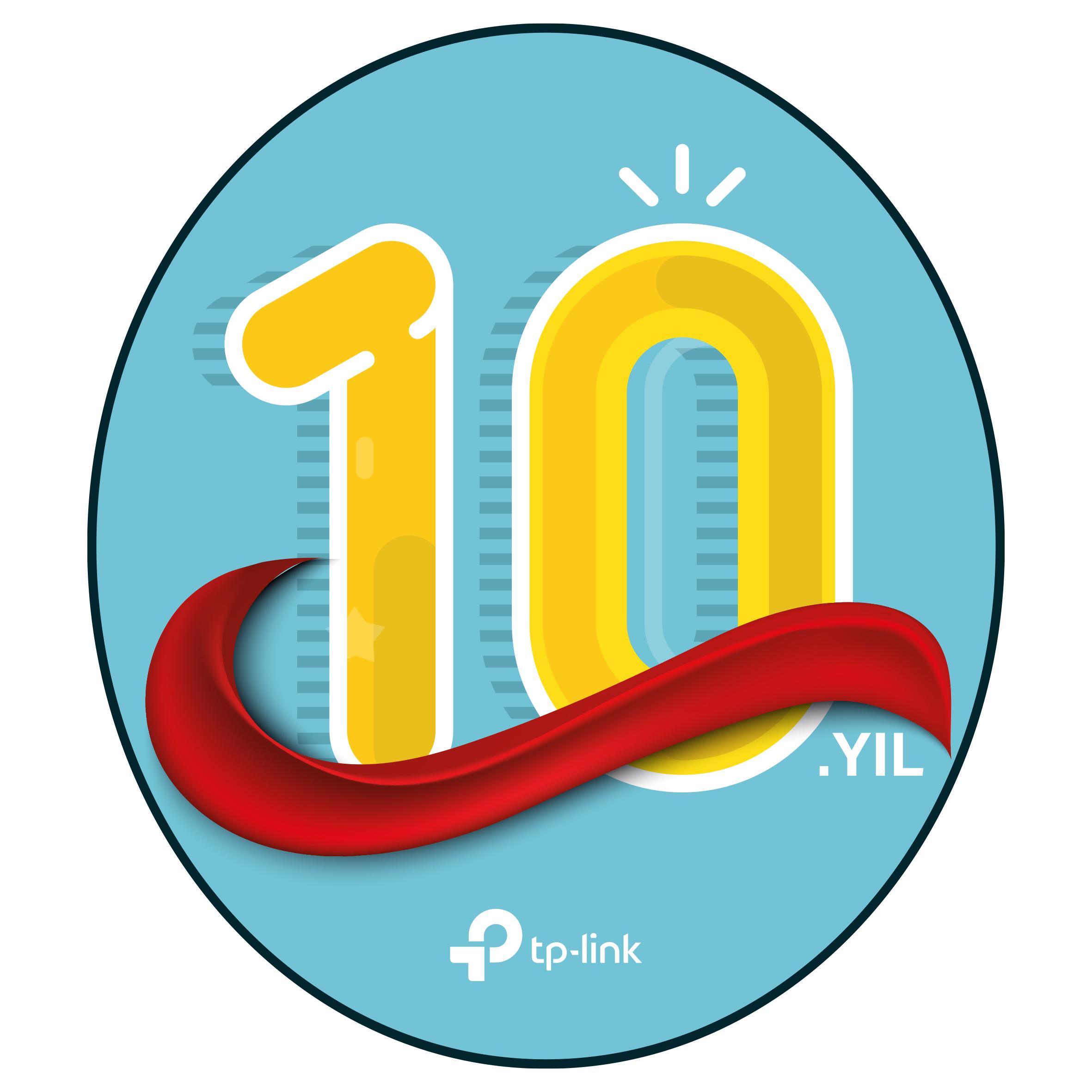 tp link 10. yıl logo