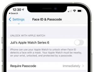 iOS 14.5 FaceID