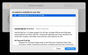 macOS Big Sur 11.3 güncellemesi