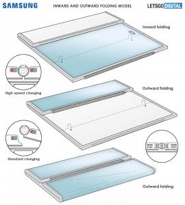 Samsung'un yeni 2 katlama noktalı tablet patenti