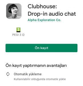 Clubhouse Android Türkiye