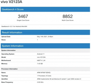 MediaTek Dimensity 900 işlemcili telefon Geekbench 4'te görüldü