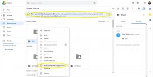Google Drive kullanıcı engelleme özelliği